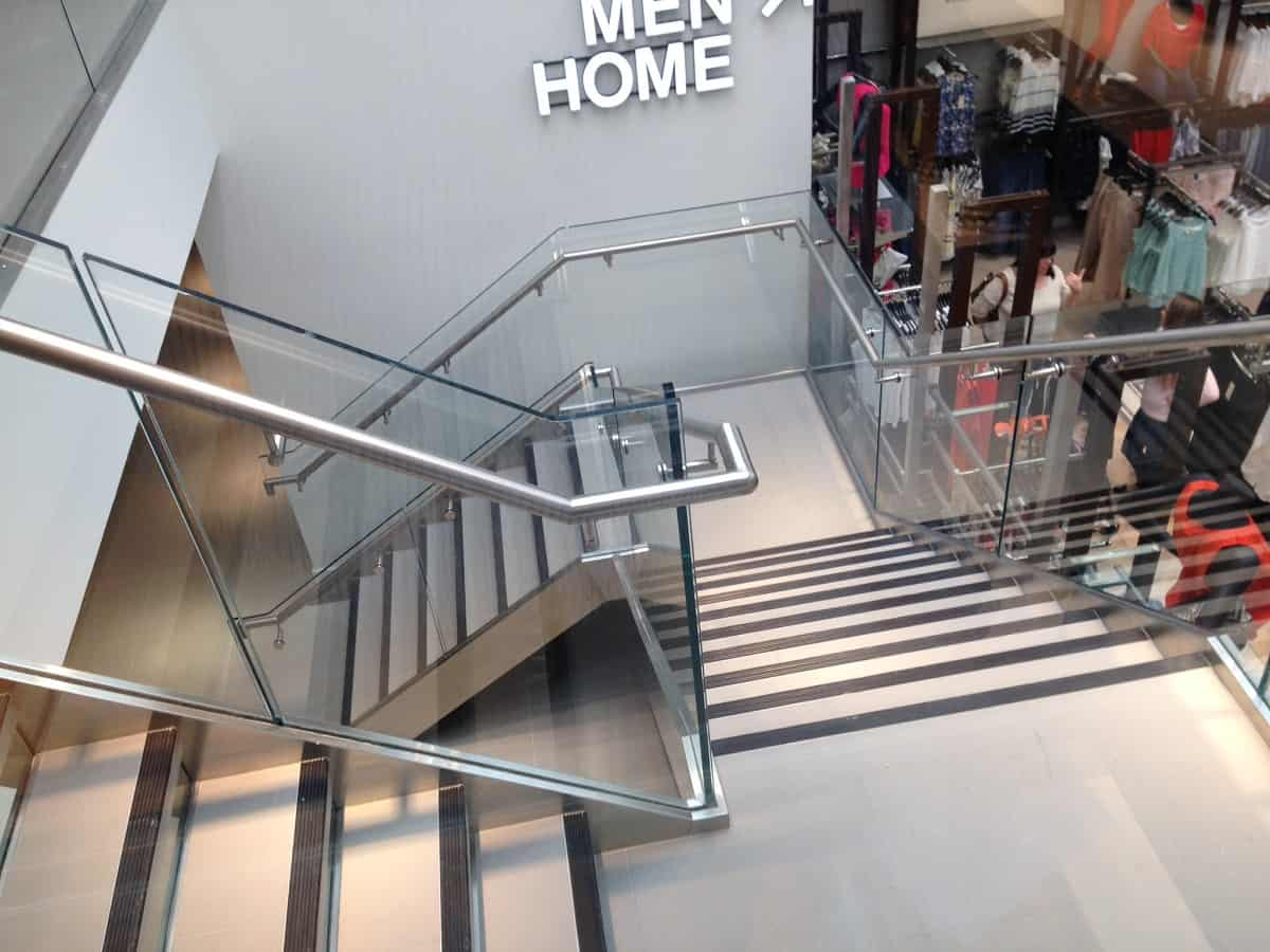 Steel Handrails for retail