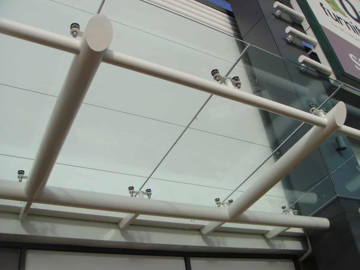 Bespoke glass canopy