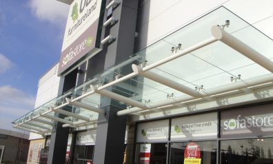 Glass Canopies for Retail
