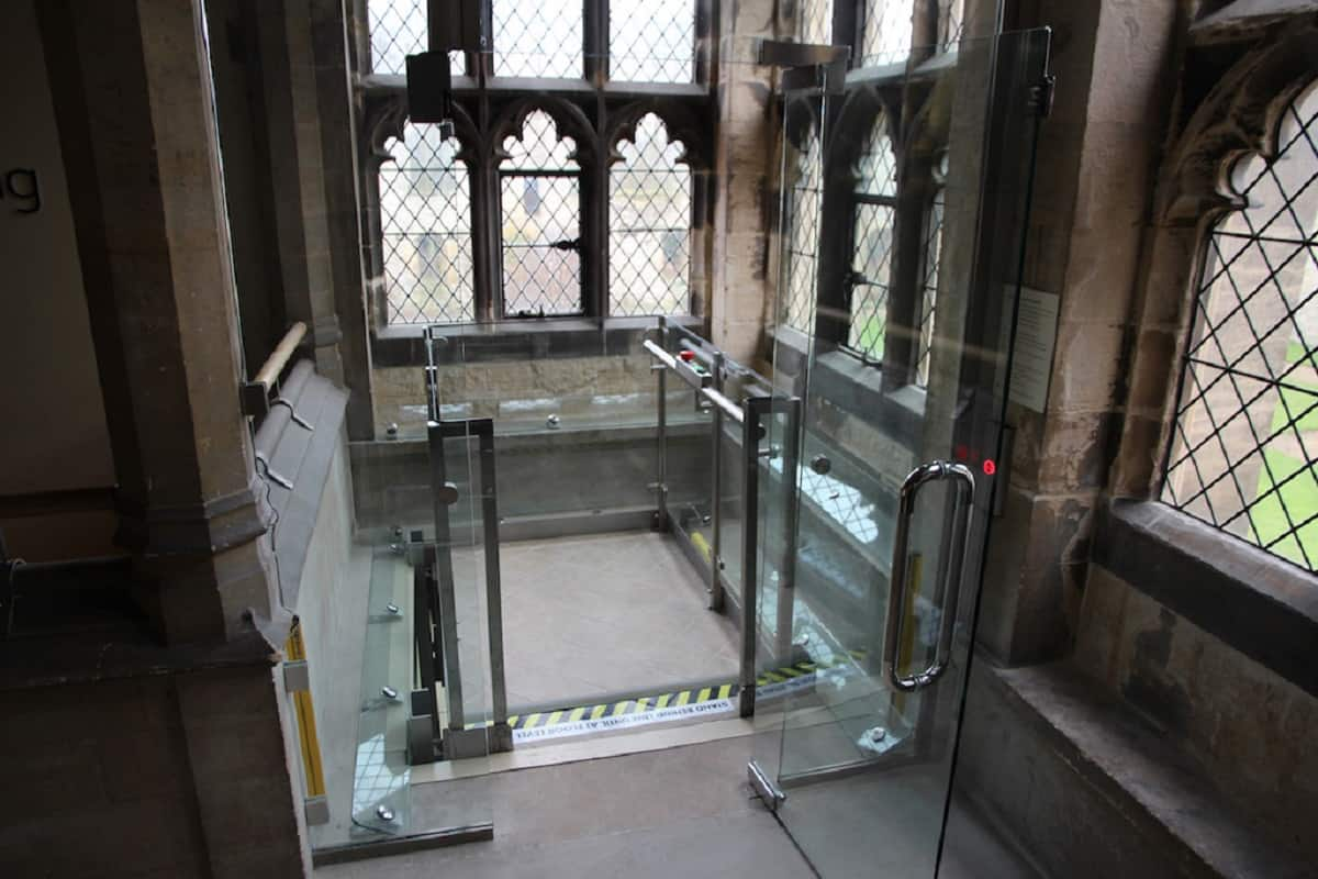 Safety is ensured at Southwell Minster with new glass lift enclosure