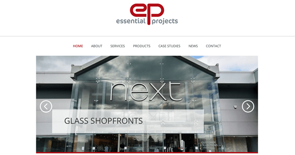 New website portrays high quality products and high profile clients