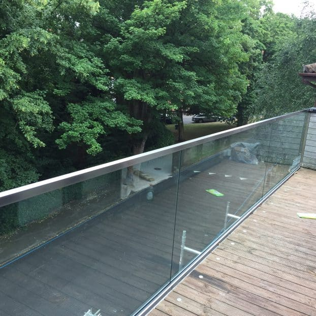 Glass balustrade features at luxury Nottinghamshire property in the Park