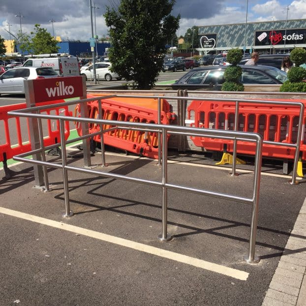 Essential Projects manufactures shopping trolley corrals for leading UK retailer