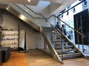 Glass Staircases for Retail