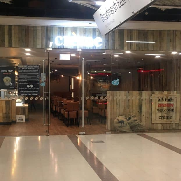 Glass shopfront installed at Nottingham's newest café in Broadmarsh Shopping Centre