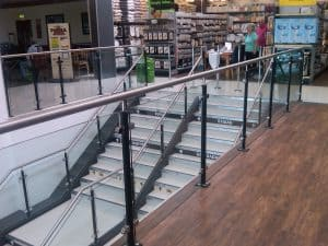 Glass Balustrade for retail
