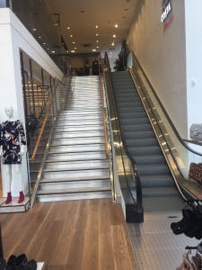 glass riser staircases