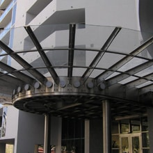 Glass canopies for cinemas