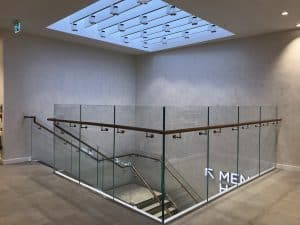 Glass Balustrade for Retail