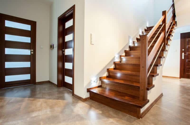 Bespoke feature wood staircase