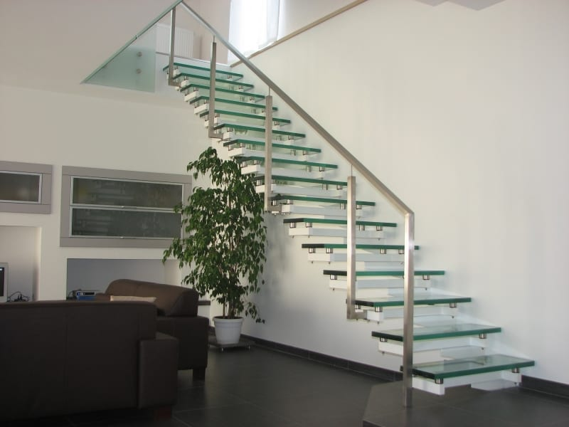 bespoke feature glass staircase