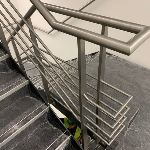 Commercial Office balustrade system added to global data centre facility