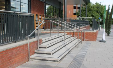 Steel Handrails for Restaurants