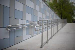 Steel handrails for universities