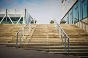 steel handrail for hotels