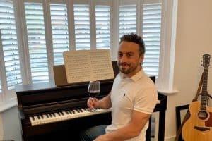 Eliot Saxton Piano and wine