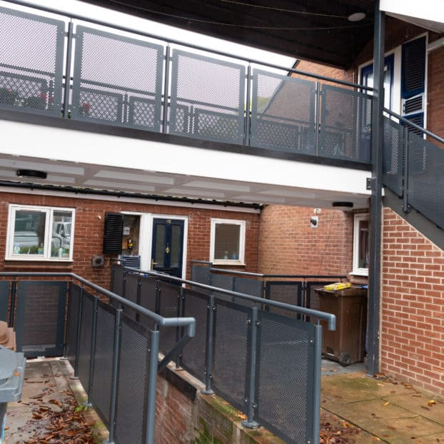 Bespoke architectural metalwork installed at £600k social housing development