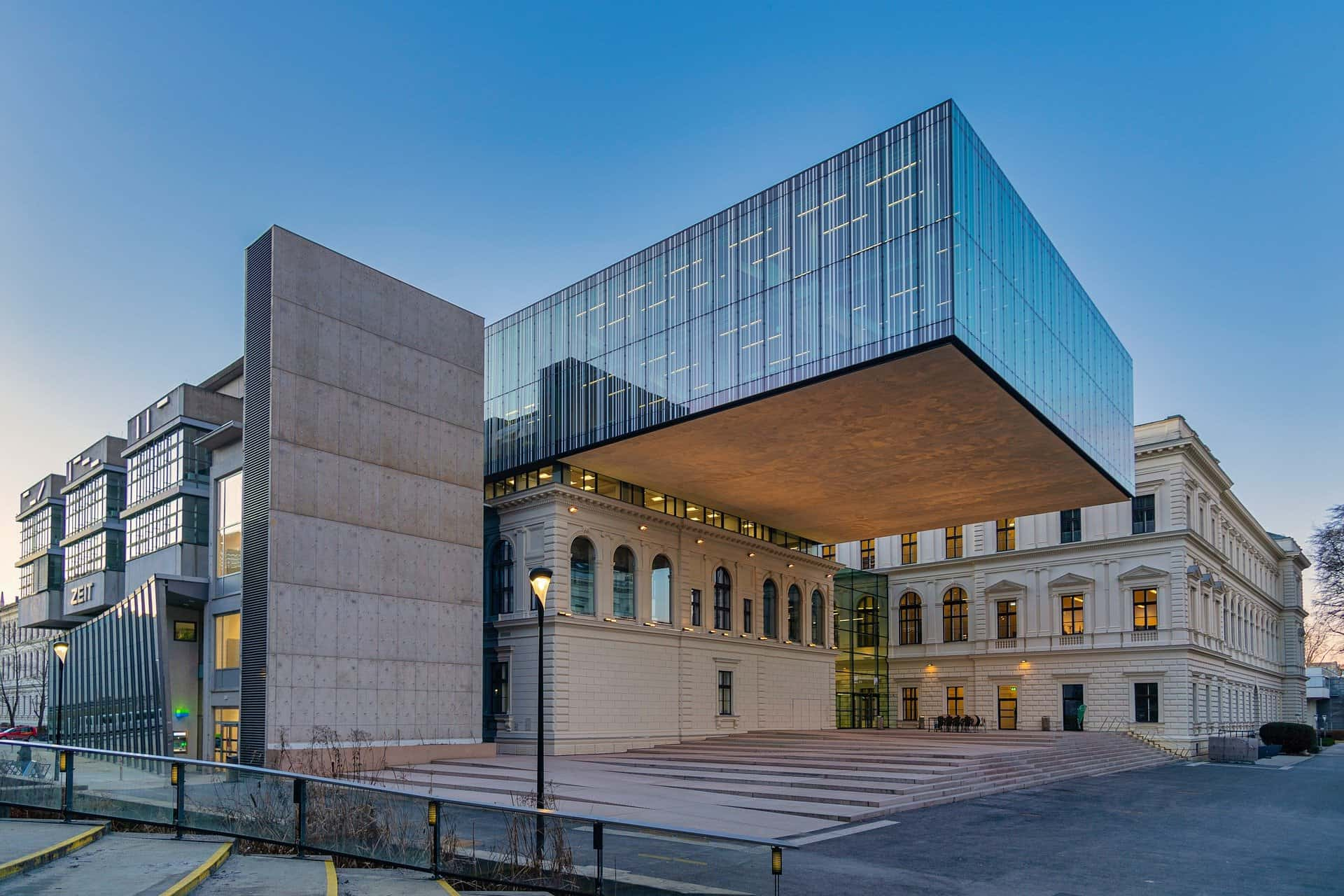 Architectural metal and glasswork for education facilities